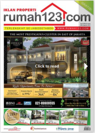 August 2012 edition of Rumah123.com classifieds tabloid