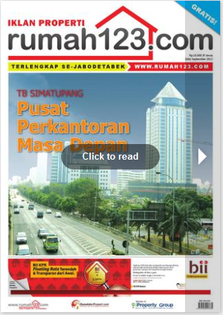 September 2012 edition of Rumah123.com tabloid